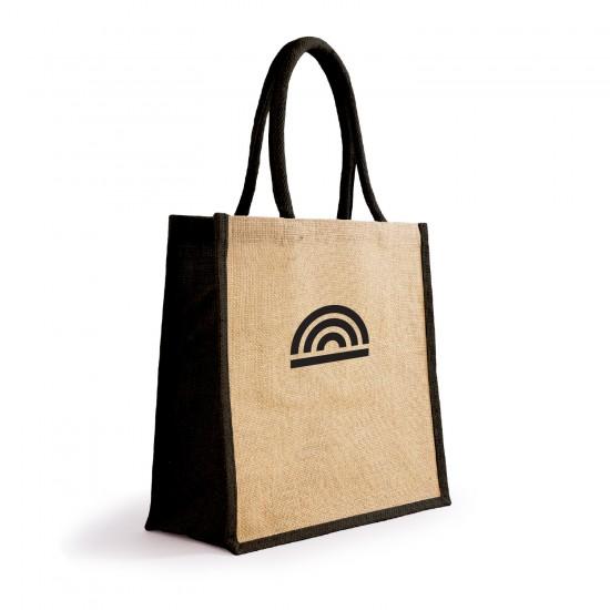 Printed Bonanza Jute Tote Bag