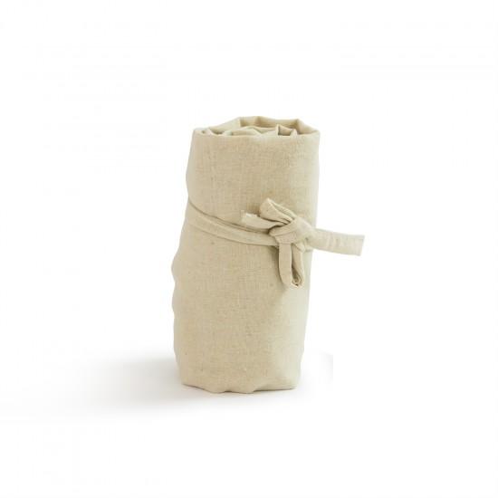 Printed Natural Cotton Roll Up Tote Bag