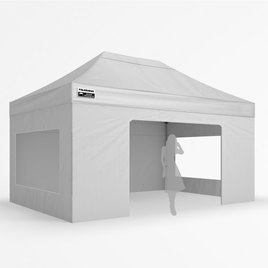 3x4.5m Zephyr Plus Alloy - Full Wall Package