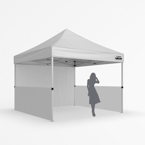 3x3m Zephyr Plus Alloy - Half Wall Package