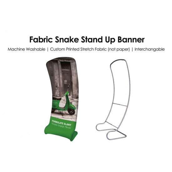 Fabric Snake Stand Up Banner