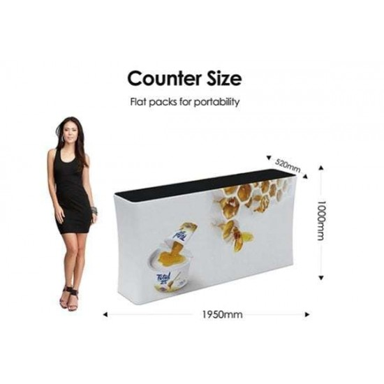 Fabric folding counter + Rubber insert