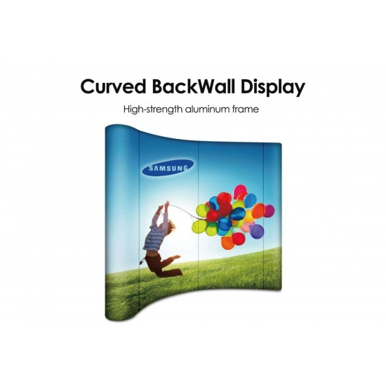 Curved Back Wall Display