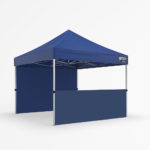3x3m gazebo - front half and back walls - blue