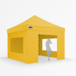 3x3m - yellow with 3 window walls and door